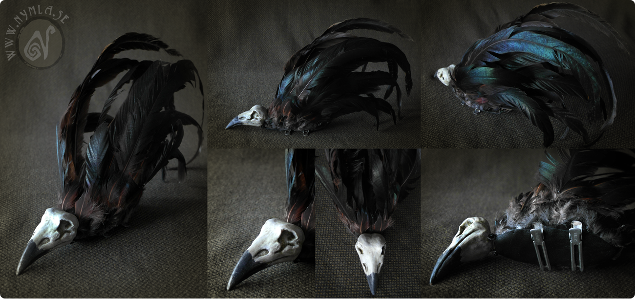 Wendigo - Bird Skull Headdress by Nymla
