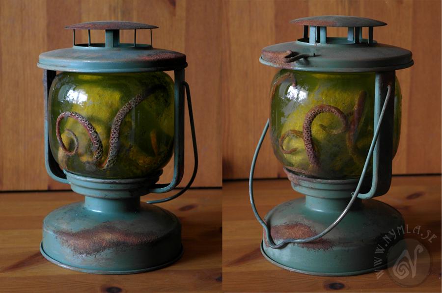 Steampunk Octopus Lantern by Nymla