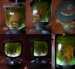 Steampunk Octopus Lantern - Lit Up