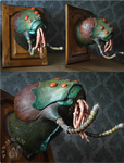 Frank the Plant-Eater - Monster Creature Wallmount