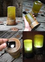 Green Glowing Steampunk Lantern (For sale on Etsy) by Nymla