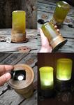 Green Glowing Steampunk Lantern (For sale on Etsy)