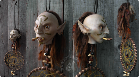 Voodoo Dreamcatcher Troll (Available on Etsy!) by Nymla