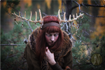 Wooden Shaman Antlers #2