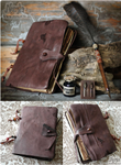 Leather Notebook with Quill