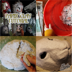 Paper Clay Tutorial, Papier Mache Recipe