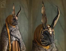 Forest Traveler - Rabbit Mask 1 by Nymla