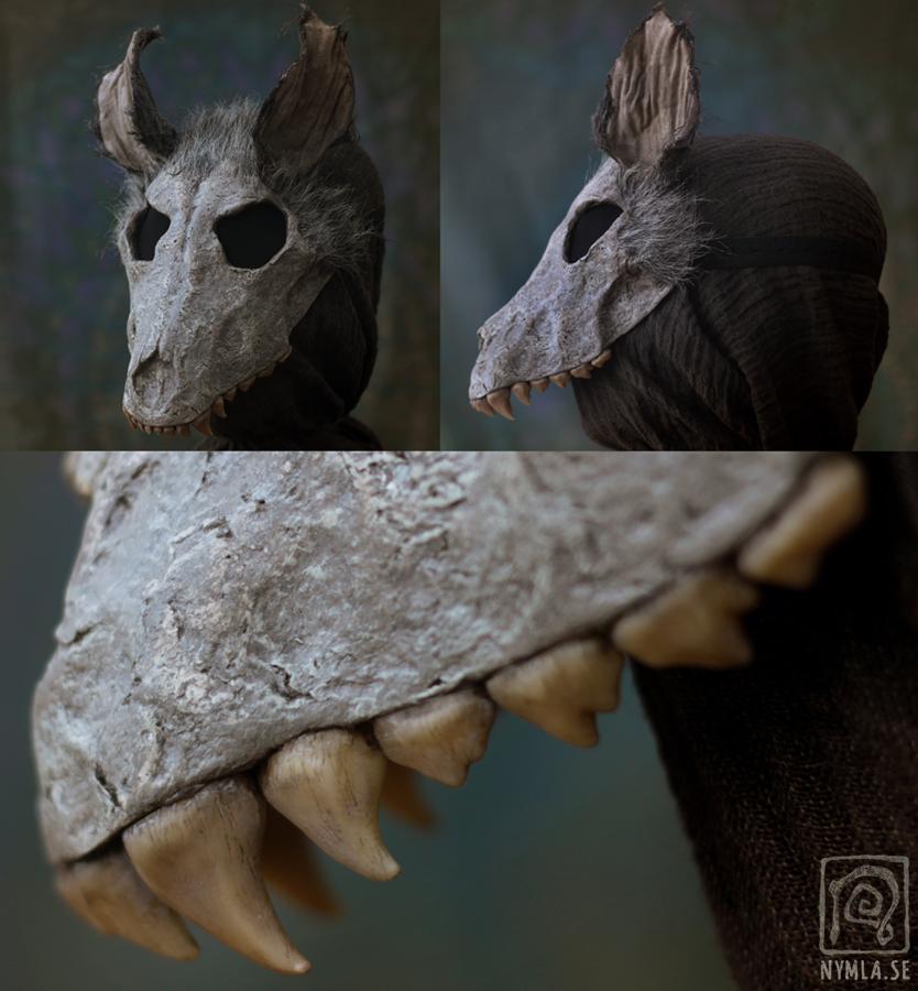 Grey Wolf Skull Mask by Nymla on DeviantArt