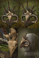 Shamanic bird mask #1 by Nymla