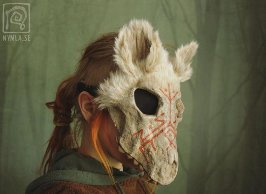 White Wolf Skull Mask with Runes by Nymla on DeviantArt
