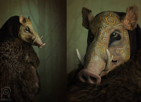 Boar Mask Spirit Animal #2 by Nymla