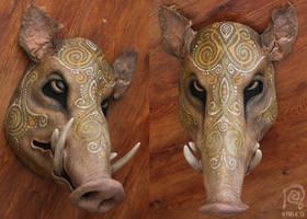 Boar Mask Spirit Animal #3 by Nymla