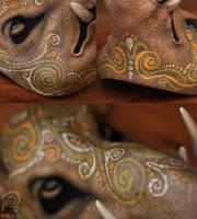 Boar Mask Spirit Animal #4 by Nymla