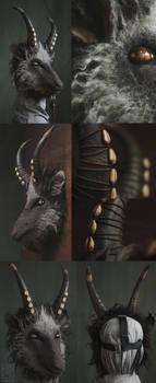 Black Phillip inspired goat mask [sold]