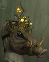 Forest Spirit Boar [for sale] by Nymla