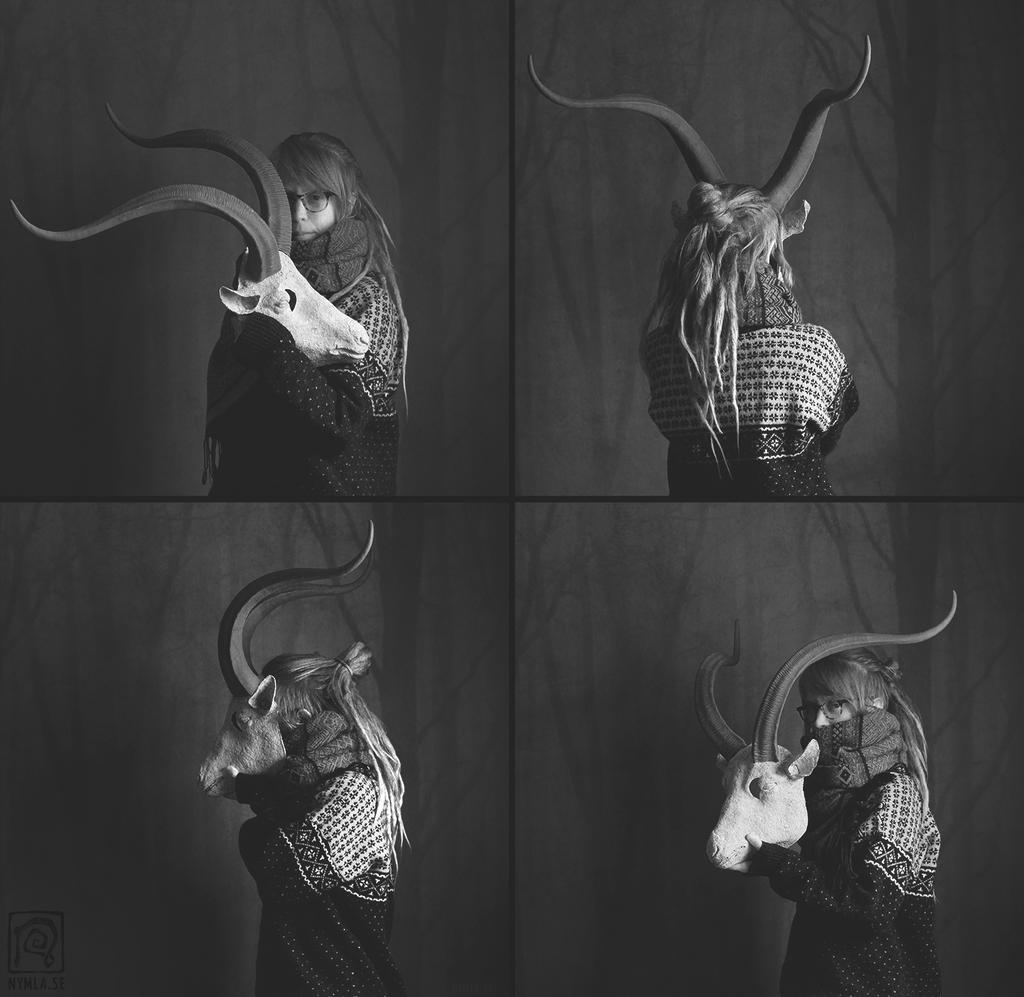 Yule Goat Blank BlackWhite by Nymla