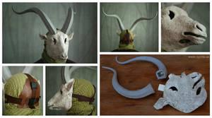 Blank Goat Masks by Nymla