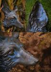 Ceramic Fox Warrior
