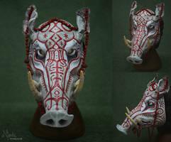 Yule Boar Mask (Sold)