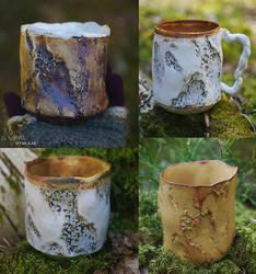 Birch bark mugs!