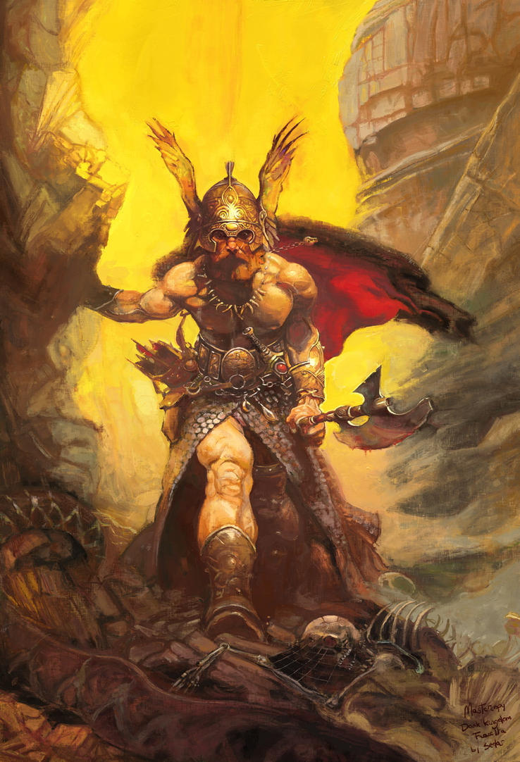 Dark Kingdom - Master copy Frazetta by sedas