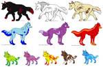 Moor Wolf Adoptables