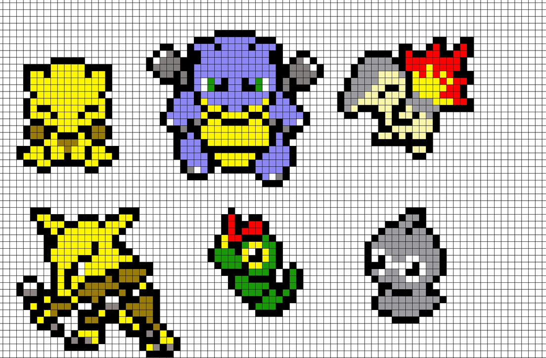 Minecraft Pixel Art Templates Pikachu