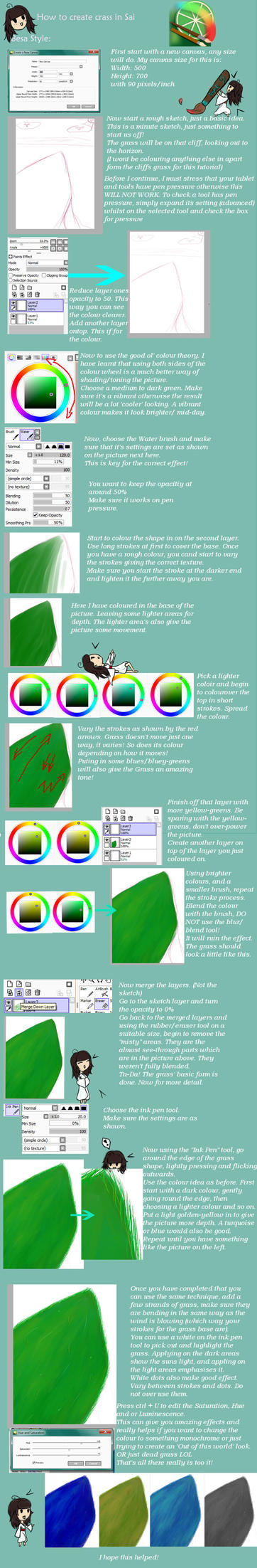 paint tool sai grass tutorial by besachan on deviantart. Black Bedroom Furniture Sets. Home Design Ideas