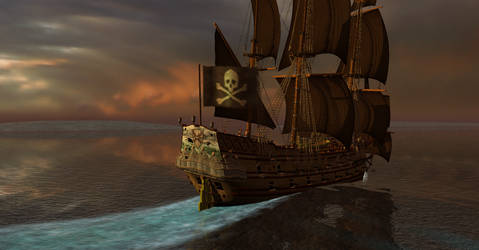 PotBS Black Sails on the Burning Sea I by Edward-Smee