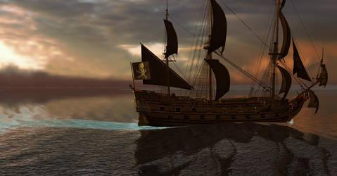 PotBS Black Sails on the Burning Sea II by Edward-Smee
