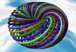 Nested toroidal knots