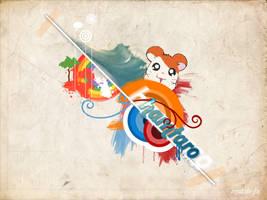 hamtaro wallpaper by muzzle-fx