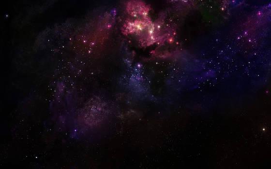Deep Space Nebula by Hameed
