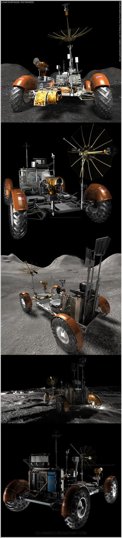 Lunar Rover Model 3D Tests by Hameed