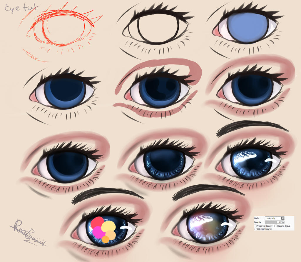 how to draw tumblr eyes step by step
