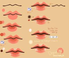 Step By Step - Lip Tutorial by Saviroosje