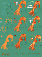 Step by Step -  How to draw hair by Saviroosje