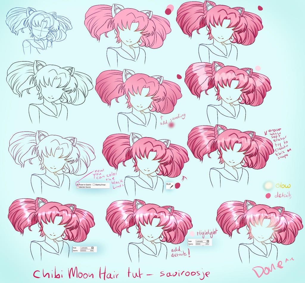 step by step chibi moon hair tut by saviroosje on deviantart