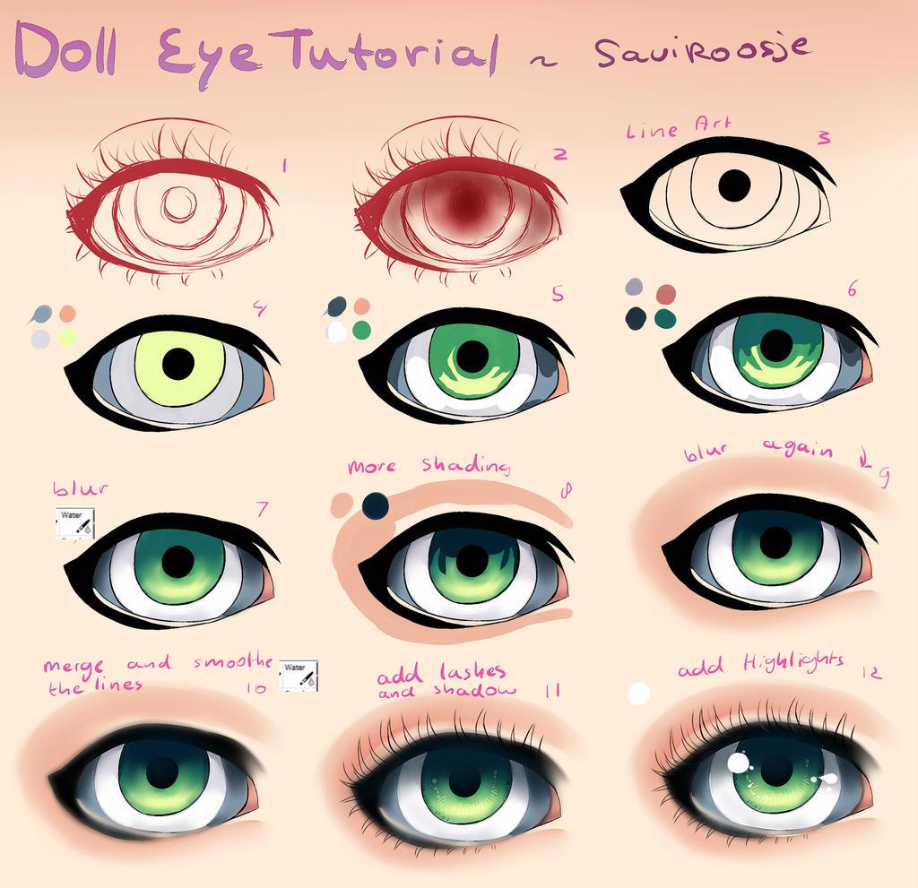 Step By Step Doll Eye Tutorial By Saviroosje On Deviantart