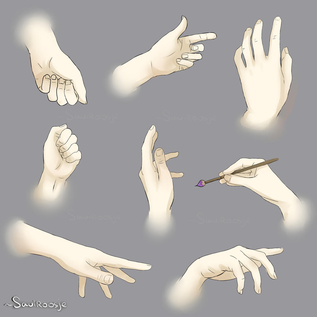 hands poses reference sheet by saviroosje on deviantart