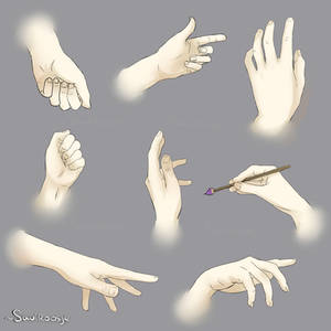Hands Poses Reference sheet