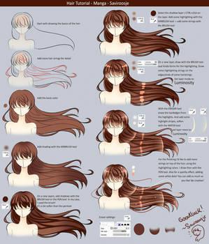 Step By Step - Manga Hair Tutorial