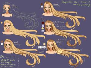 Step by Step - Rapunzel hair TUTORIAL