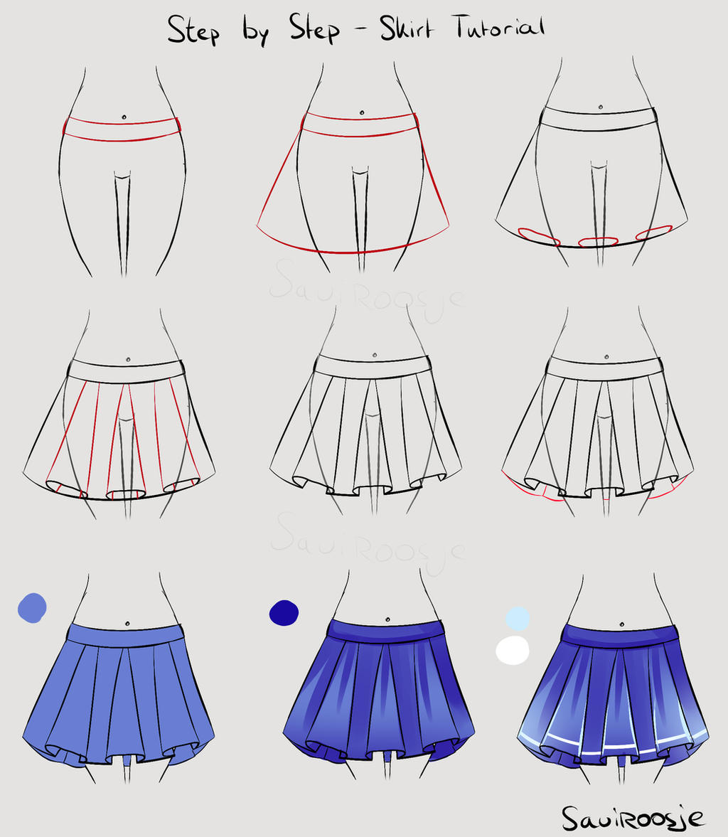 Step by Step - School girl Skirt by Saviroosje on DeviantArt