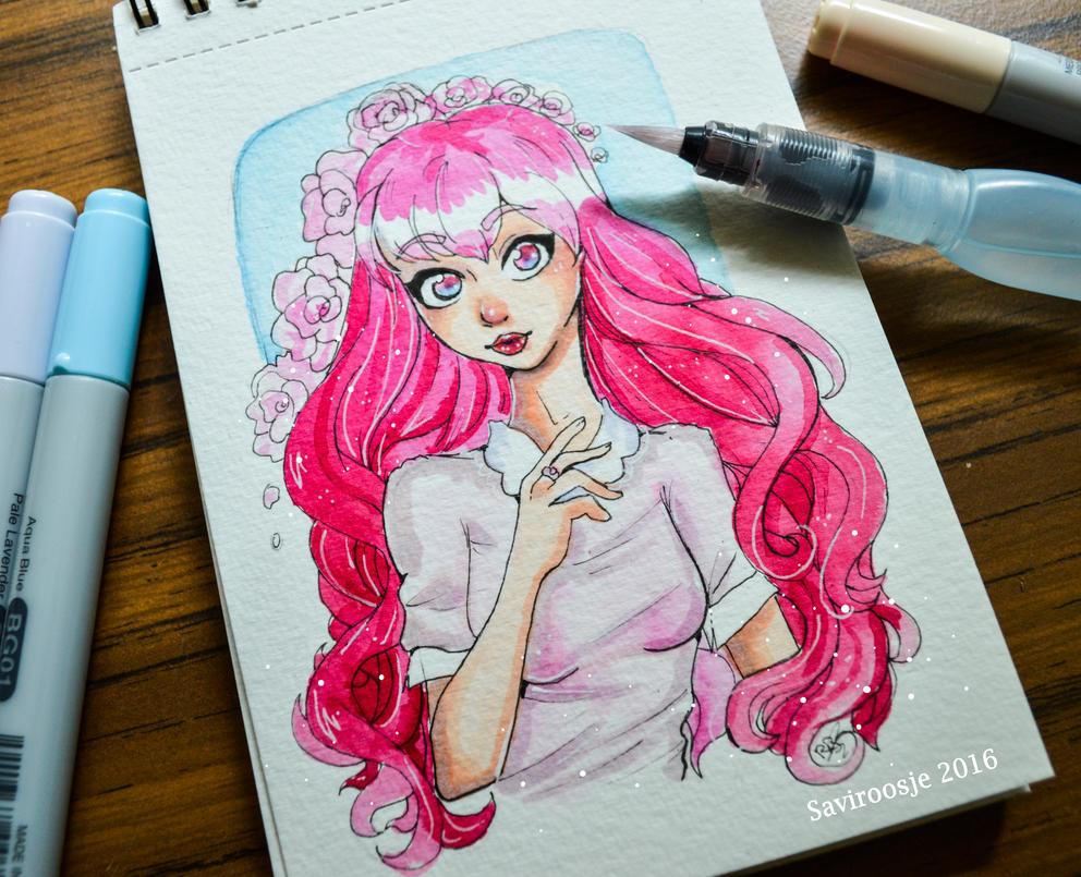 Pink Roses by Saviroosje