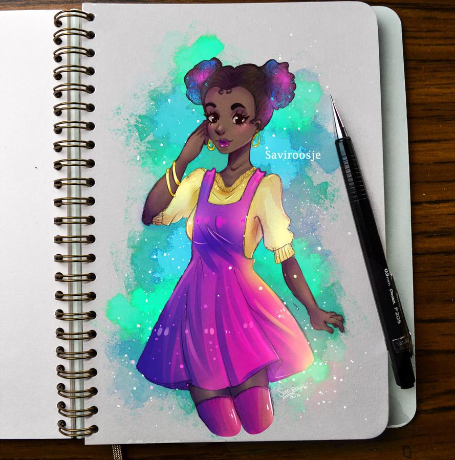 Colorful Buns by Saviroosje