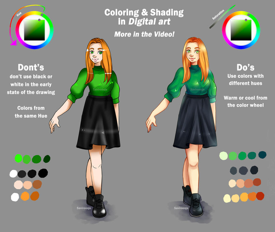 Tutorial: Coloring in Digital art - VIDEO by Saviroosje on DeviantArt