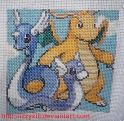 Dratini-Dragonair-Dragonite by IzzyXIII