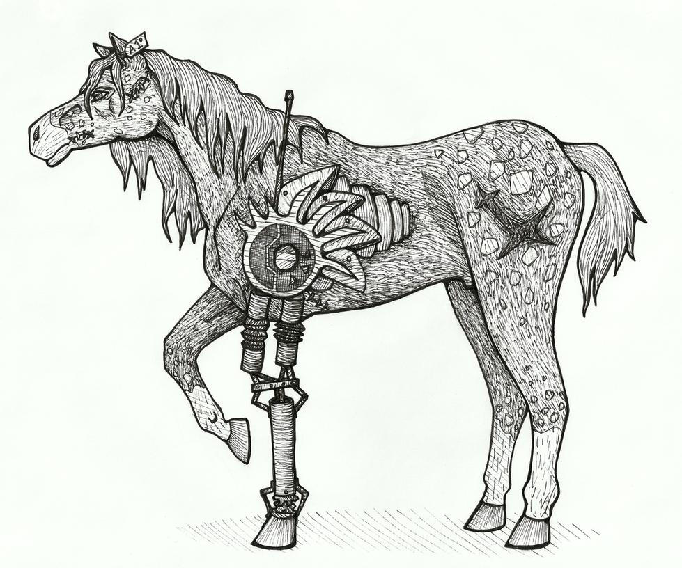 Deviantarts Robot Horse: Zombie Robot Horse By Gaypurpledinosaur On DeviantArt