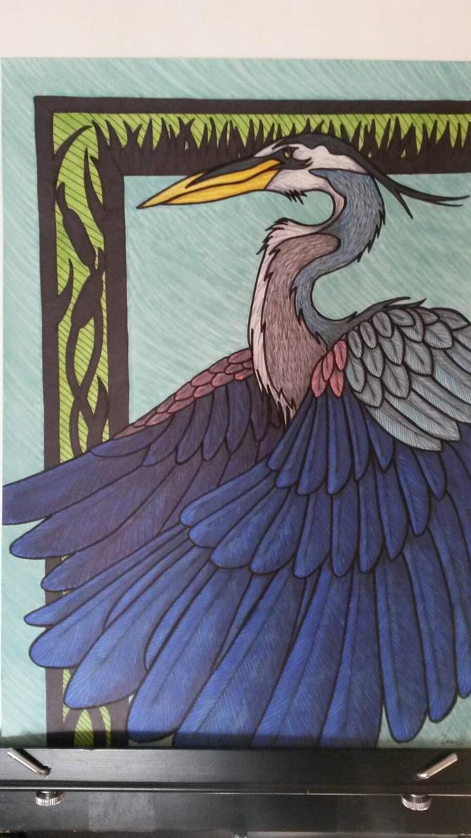 Blue Heron by gaypurpledinosaur